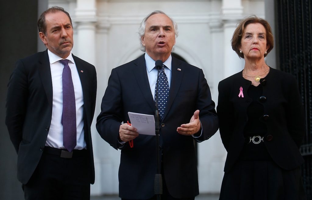 El entonces ministro del Interior, Andres Chadwick, invoco la Ley de Seguridad del Estado tras los hechos ocurridos en el Metro de Santiago. Foto: Agencia Uno.