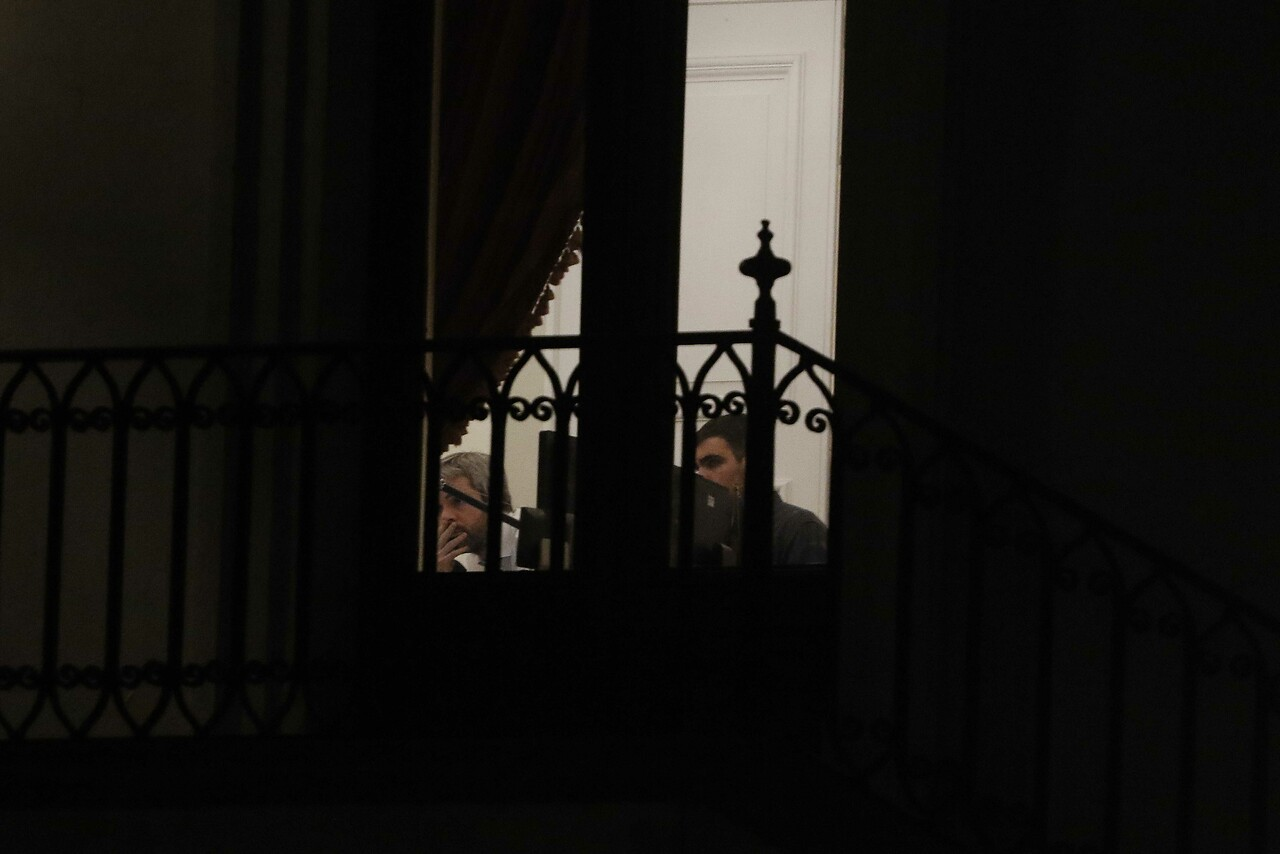 12 de noviembre del 2019/SANTIAGO El ministro del Interior Gonzalo Blumel, en el despacho del presidente. Foto: Agencia Uno.