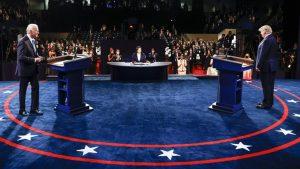 Joe Biden y Donald Trump en el último debate antes de las elecciones / Foto: CSPAN