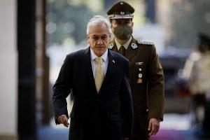 Presidente Sebastián Piñera en el Palacio de La Moneda. Foto: Agencia Uno.