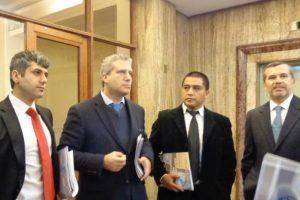 El exdiputado Ricardo Rincón, Alberto Hadad, Francisco Leiva. Foto: Fiden.